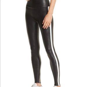 Spanx Faux-Leather Stripe Leggings